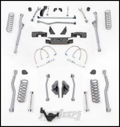 "Rubicon Express 4.5"" Extreme Duty Radius Front With Rear 4-Link Long Arm Lift Kit Without Shocks For 2007-18 Jeep Wrangler JK 4 Door Unlimited Models JKR444"