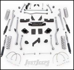 "Rubicon Express 4.5"" Extreme Duty Radius Front & Rear Long Arm Lift Kit & Mono-Tube Shocks For 2007-18 Jeep Wrangler JK 2 Door Models JKRR24M"