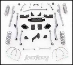 """Rubicon Express 3.5"""" Extreme Duty Radius Front & Rear Long Arm Lift Kit Without Shocks For 2007-18 Jeep Wrangler JK Unlimited 4 Door Models JKRR43"""