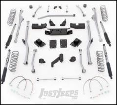"Rubicon Express 3.5"" Extreme Duty Radius Front & Rear Long Arm Lift Kit & Mono-Tube Shocks For 2007-18 Jeep Wrangler JK 4 Door Unlimited Models JKRR43M"