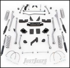 "Rubicon Express 4.5"" Extreme Duty Radius Front & Rear Long Arm Lift Kit & Mono-Tube Shocks For 2007-18 Jeep Wrangler JK 4 Door Unlimited Models JKRR44M"