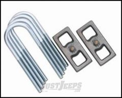 """Rubicon Express 1.5"""" Lift Block & U-Bolt Kit For 1993-01 Jeep Cherokee XJ With Chrysler 8.25 RE1215"""