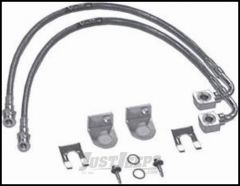 "Rubicon Express Rear 20"" Brake Line Set For 2007-18 Jeep Wrangler JK 2 Door & Unlimited 4 Door With 2.5-4.5"" Lift RE1540"