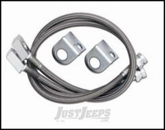 """Rubicon Express Front 22"""" Stainless Steel Brake Lines For 1977-81 Jeep CJ Series With 2.5-4.5"""" Lift RE1552"""
