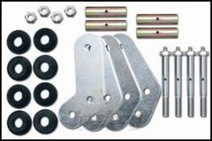 """Rubicon Express 5"""" Greaseable Boomerang Shackle Kit Front or Rear For 1987-95 Jeep Wrangler YJ RE2775"""