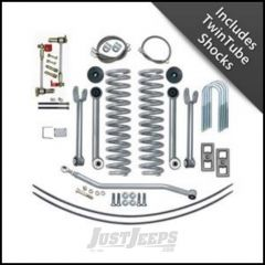 """Rubicon Express 4.5"""" Super-Flex Suspension System With Rear Add-A-Leaf Kit With Twin Tube Shocks For 1984-01 Jeep Cherokee XJ RE6111T"""