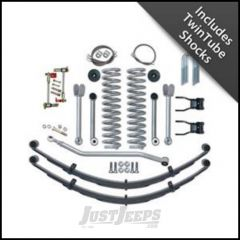 "Rubicon Express 4.5"" Super-Flex Suspension System With Rear Complete Springs With Twin Tube Shocks For 1984-01 Jeep Cherokee XJ RE6130T"