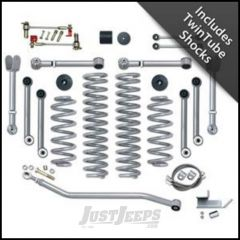 """Rubicon Express 3.5"""" Super-Flex Suspension System With Upper Adjustable Control Arms With Twin Tube Shocks For 1997-06 Jeep Wrangler TJ Models RE7000-3T"""