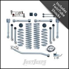 """Rubicon Express 4.5"""" Super-Flex Suspension System With Upper Adjustable Control Arms With Twin Tube Shocks For 1997-06 Jeep Wrangler TJ Models RE7000T"""