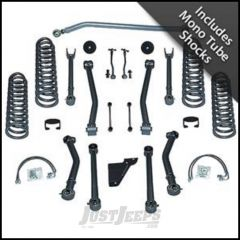 """Rubicon Express 4.5"""" Super-Flex System With Mono Tube Shocks For 2007-18 Jeep Wrangler JK 2 Door RE7124M"""