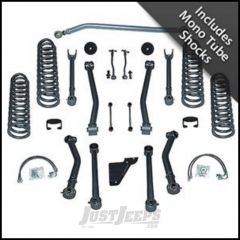 "Rubicon Express 4.5"" Super-Flex System With Mono Tube Shocks For 2007-18 Jeep Wrangler JK 4 Door Unlimited RE7144M"