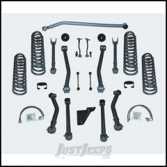 """Rubicon Express 4.5"""" Super-Flex System With Twin Tube Shocks For 2007-18 Jeep Wrangler JK 4 Door Unlimited RE7144T"""