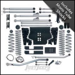 """Rubicon Express 3.5"""" Extreme-Duty Long Arm Kit With Rear Track Bar Kit With Mono Tube Shocks For 1997-02 Jeep Wrangler TJ RE7203M"""