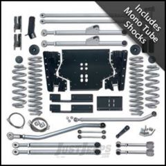 """Rubicon Express 4.5"""" Extreme-Duty Long Arm Kit With Rear Track Bar Kit With Mono Tube Shocks For 2004-06 Jeep Wrangler TLJ Unlimited RE7224M"""