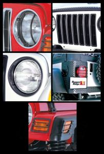 Rugged Ridge 15 Piece Euro Light Guard Kit in Black For 1997-06 Jeep Wrangler TJ & Unlimited 12495.03