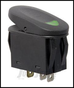 Rugged Ridge 2 Position Rocker SwitchIn Green For Universal Applications 17235.04