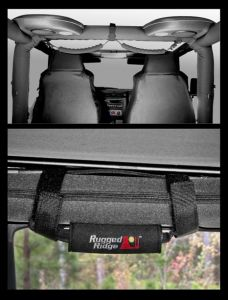 Rugged Ridge 4 Piece Grab Handle Kit in Black For 1997-06 Jeep Wrangler TJ & Unlimited 12495.10