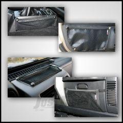 Rugged Ridge 5 Piece Interior Mesh Storage Kit For 1997-06 Jeep Wrangler TJ & Unlimited TJ 12495.11
