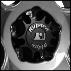 Rugged Ridge Aluminum Wheel Center Cap for Rugged Ridge Drakon Series Wheels For 2007-18 Jeep Wrangler JK 2 Door & Unlimited 4 Door Models 15302.50