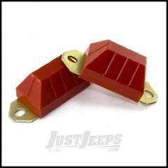 Rugged Ridge Axle Bump Stop Set Red Polyurethane For 1976-86 Jeep CJ Models 18369.03