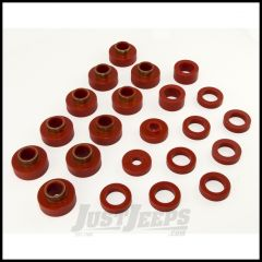 Rugged Ridge Body Mount Kit Red For 1980-86 CJ7 22 Pieces 18351.03