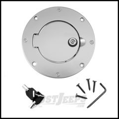 Rugged Ridge Brushed Aluminum Locking Gas Hatch Cover For 1997-06 Jeep Wrangler TJ & Unlimited 11425.09