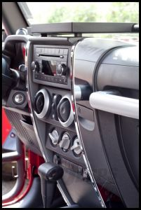 Rugged Ridge Center Dash Accents In Chrome For 2007-10 Jeep Wrangler & Wrangler Unlimited JK 11156.14