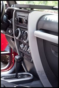 Rugged Ridge Center Dash Accents In Silver For 2007-10 Jeep Wrangler & Wrangler Unlimited JK 11151.14