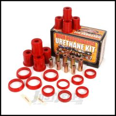 Rugged Ridge Control Arm Bushing Kit Front Red For 1997-06 Jeep Wrangler TJ & Unlimited Models 1-204