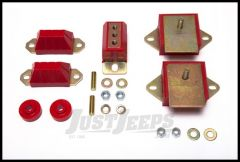 Rugged Ridge Drivetrain Mount Kit Red For 1976-86 Jeep CJ Models 18390.50