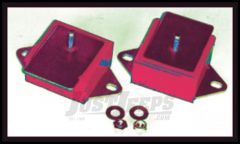 Rugged Ridge Engine Mounts Black Polyurethane Pair For 1977-86 Jeep CJ Series With AMC 6 Cyl. Engine 17473.09