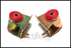 Rugged Ridge Engine Mounts Red Polyurethane For 1987-06 Jeep Cherokee XJ Wrangler YJ & TJ Models With 4.0ltr Engine (Pair) 18390.02
