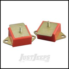 Rugged Ridge Engine Mounts Red Polyurethane Pair For 1977-86 Jeep CJ Series With AMC 6 Cyl. Engine 18390.01