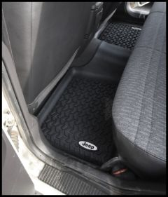 Rugged Ridge Floor Liner Rear Black With Jeep Logo For 1984-01 Jeep Cherokee XJ DMC-12950.19