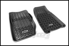 Rugged Ridge Floor Liners Front Black With Jeep Logo For 1984-01 Jeep Cherokee XJ DMC-12920.25