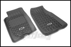Rugged Ridge Floor Liners Front Black With Jeep Logo For 1993-98 Jeep Grand Cherokee ZJ DMC-12920.26