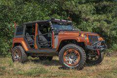 Rugged Ridge Fortis Tube Doors for 07-18 Jeep Wrangler JK, JKU 11509-