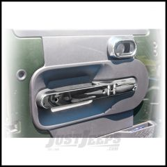 Rugged Ridge Front Door Handle Trim In Chrome For 2007-10 Jeep Wrangler & Wrangler Unlimited JK With Power Locks 11156.16