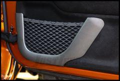 Rugged Ridge Front Door Net Trim In Charcoal For 2011-18 Jeep Wrangler JK 2 Door & Unlimited 4 Door Models 11157.21