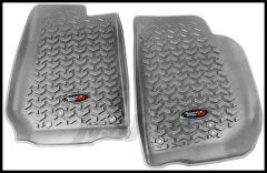 Rugged Ridge Front Floor Liners Pair in Grey For 2007-18 Jeep Wrangler JK 2 Door & Unlimited 4 Door Models 14920.03