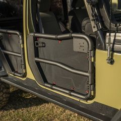 Rugged Ridge Fortis Tube Door Covers for 07-18 Jeep Wrangler JK, JKU 13579-