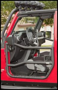 Rugged Ridge Front Tube Door Set in Textured Black For 2007-18 Jeep Wrangler JK 2 Door & Unlimited 4 Door Models 11509.10