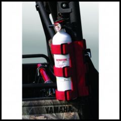 Rugged Ridge Fire Extinguisher Holder Red Mainly For ATV Applications Fits 1 inch - 3 inch Tubes 63305.20