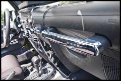 Rugged Ridge Grab Bar Trim In Chrome For 2007-10 Jeep Wrangler & Wrangler Unlimited JK 11156.15