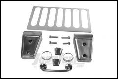 Rugged Ridge Hood Dress-Up Kit Stainless Steel For 2013-18 Jeep Wrangler JK 2 Door & Unlimited 4 Door Models 11101.07