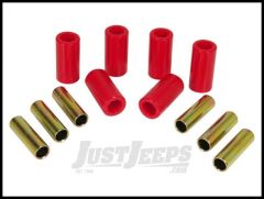 Rugged Ridge Leaf Spring Bushing Kit Front or Rear Red For 1955-75 Jeep CJ Series 18364.01