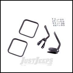 Rugged Ridge Mirror Head and Arm Kit Black For 1955-86 Jeep CJ Models Pair 11001.11