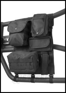 Rugged Ridge Molle Pal Tube Door Cargo Cover With Storage Bags in Black For 1997+ Jeep Wrangler TJ TJ Unlimited JK & Wrangler Unlimited JK 13247.01
