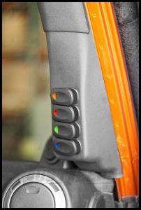 Rugged Ridge Passenger Side A-Pillar Switch Pod Kit For 2007-10 Jeep Wrangler & Wrangler Unlimited JK 17235.87