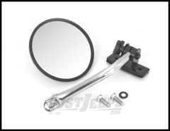 Rugged Ridge Quick Release Mirror Stainless Steel For 1997+ Jeep Wrangler TJ JK TJ Unlimited & Wrangler Unlimited JK (Single) 11026.11